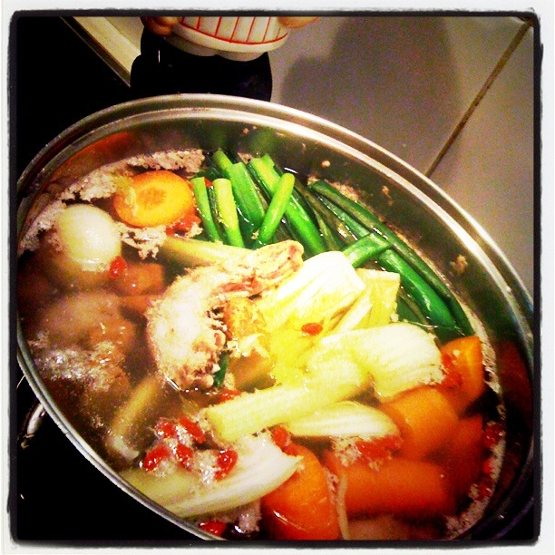 Flu busting chicken soup for Soup for a cold
