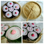 Facewasher sushi rolls for baby shower gift