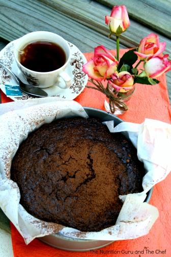 Chocolate chia cake
