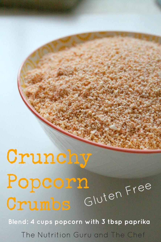 Popcorn crumbs gluten free