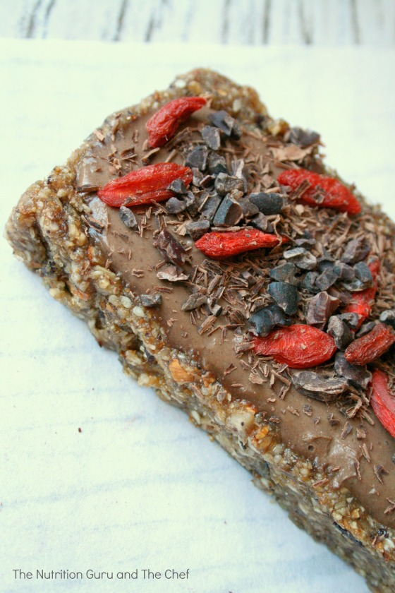 Raw chocolate mousse tart Health nutrition cacao